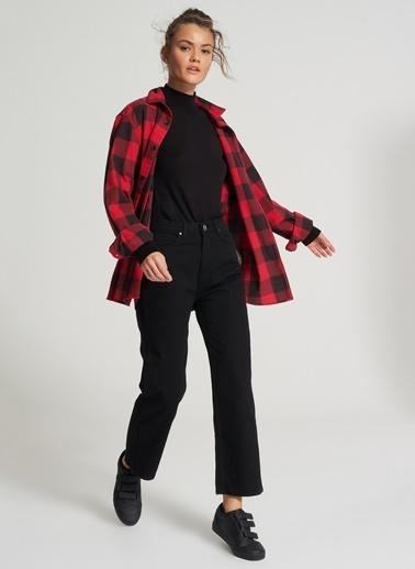 Pi π Yüksek Bel Jean Pantolon Siyah